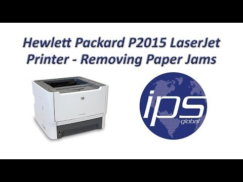 HP P2015 - Removing Paper Jams