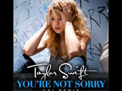 Taylor Swift You're Not Sorry CSI Remix  Episode Link