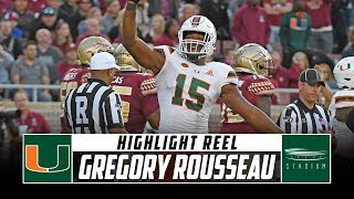 Miami DE Gregory Rousseau Highlight Reel - 2019 Season | Stadium