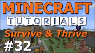 Minecraft Tutorials - E32 Mushrooms, Stew, Portable Shelter (Survive and Thrive II)