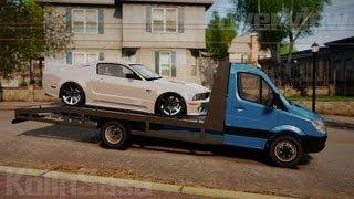 GTA 4/EFLC Mercedes-Benz Sprinter 3500 Car Transporter