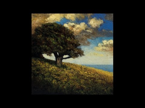 Hill by the Sea 5×5 Tonalist Landscape Oil Painting Demonstration