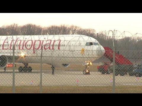 Co-pilot hijacks Ethiopian plane - BBC News