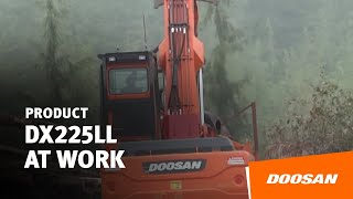 Doosan DX225LL in the job site Thumbnail