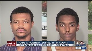 Rape, robbery suspects appear in court