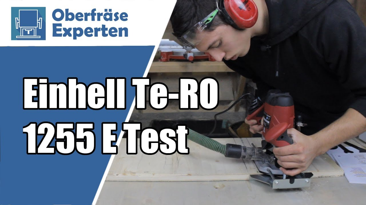 oberfr se test 1 einhell te ro 1255 e youtube. Black Bedroom Furniture Sets. Home Design Ideas