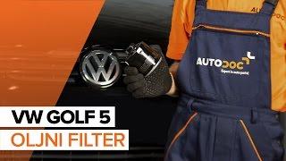 Kako zamenjati Oljni filter VW GOLF V (1K1) - spletni brezplačni video