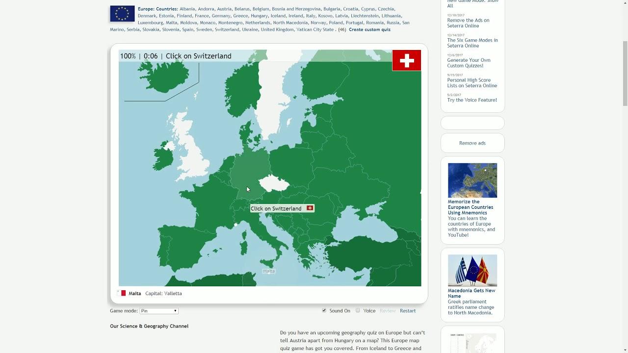 Seterra State Map Quiz