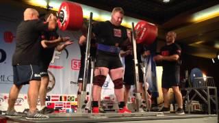Carl Yngvar Christensen 490 Kg Squat WORLD RECORD !! IPF Worlds 2014