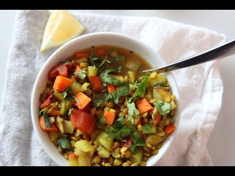 Slow Cooker Turmeric Ginger Lentil Soup