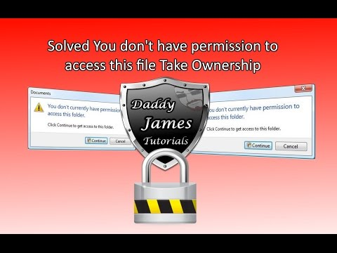 Solved You don't have permission to access this file Take Ownership EZ!!!