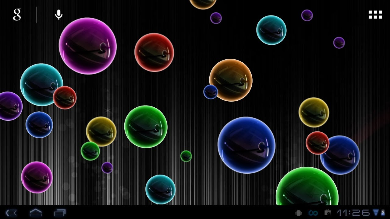 Animated Fish Wallpaper Hd Neon Bubble Live Wallpaper Youtube