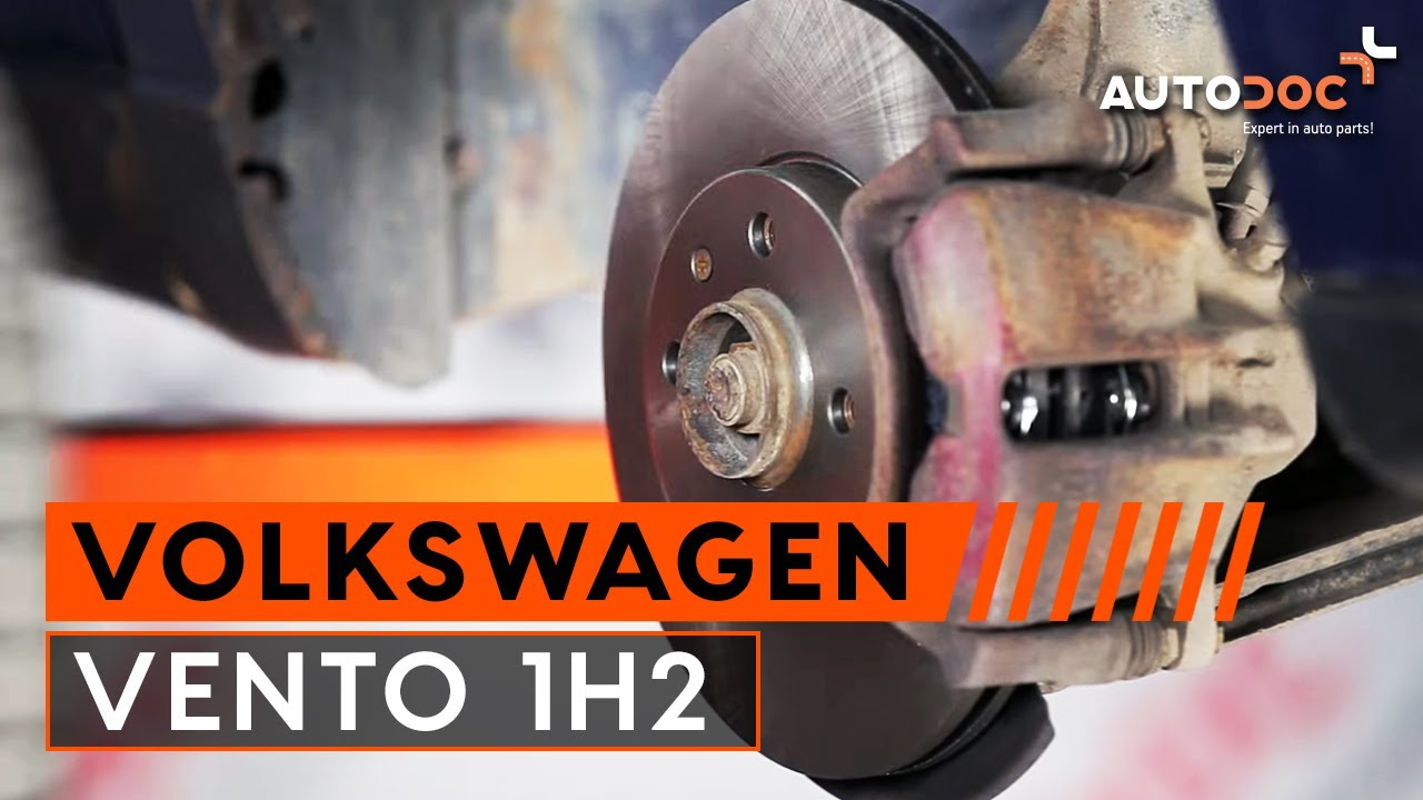 How to replace front brake discs and brake pads VW VENTO 1H2 TUTORIAL |  AUTODOC