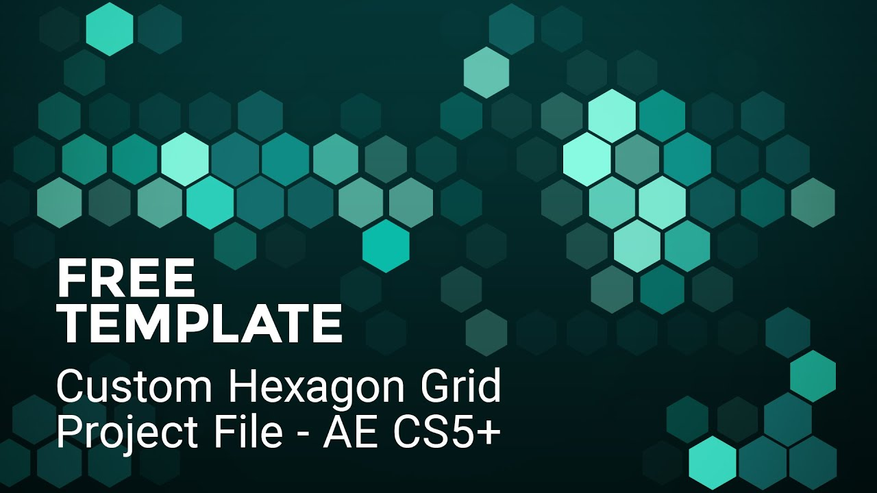 free hex grid - after effects freebie - youtube, Presentation templates