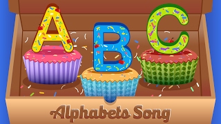 Alphabets Cupcakes Song | ABC Song | Alphabets songs for children