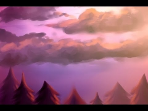 ♥ Scenery – Marceline Painting Pt 1 – Speed Paint in Paint Tool Sai ♥