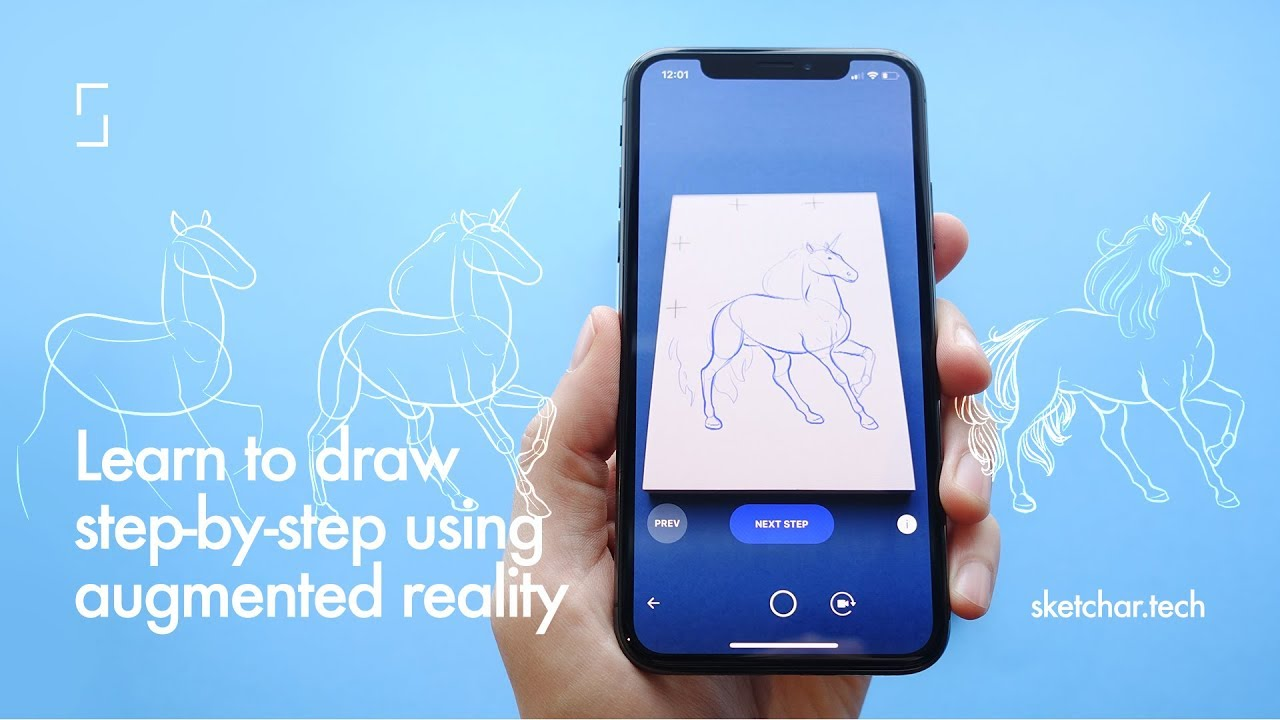 Learn to draw with AR  Step by step drawing using augmented reality— SketchAR School