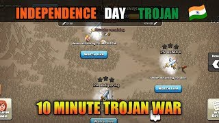 Independence Day 🇮🇳 Youtubers Trojan War! In Clash Of Clans (Hindi)