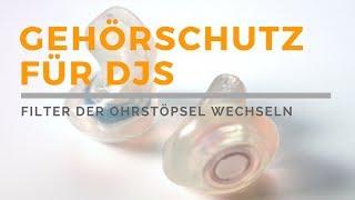 Wie Gehörschutz Filterkapseln der Elacin-Ohrstöpsel wechseln?