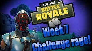 Fortnite Battle Royale | Week 7 Challenge Rage! | Blockbuster Skin!