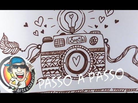 Como Desenhar Camera Fotografica Tumblr Passo A Passo Youtube