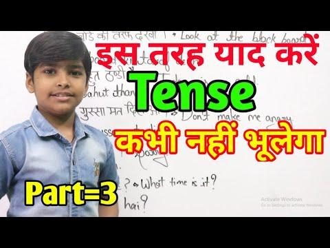 Basic English Grammar Present Indefinite With Example In Hindi By Rn Glory || Tense Ki Basic Jankari