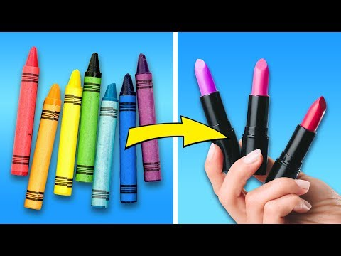 27 COLORFUL MAKEUP DIY CRAFTS