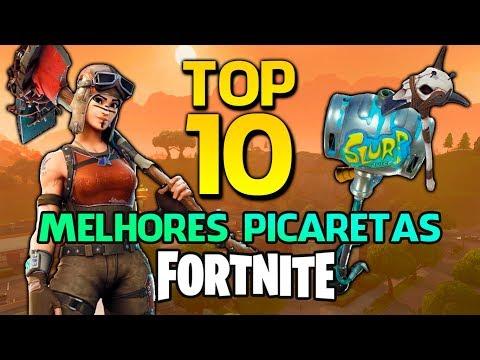 FORTNITE - TOP 10 PICARETAS MAIS BONITAS!