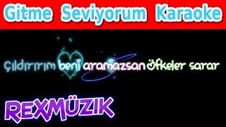 Gitme Seviyorum - Harun Kolçak feat Tan Taşçı l Karaoke (Lyrics)