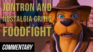 [Blind Reaction] Jontron and Nostalgia Critic - Foodfight!
