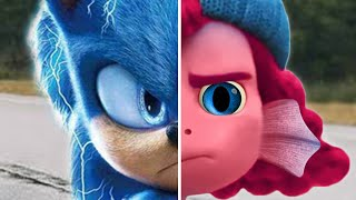 Sonic vs LUCA GIULIA Sea Monsters Sonic The Hedgehog Movie Choose Favorite Design Both Characters 2