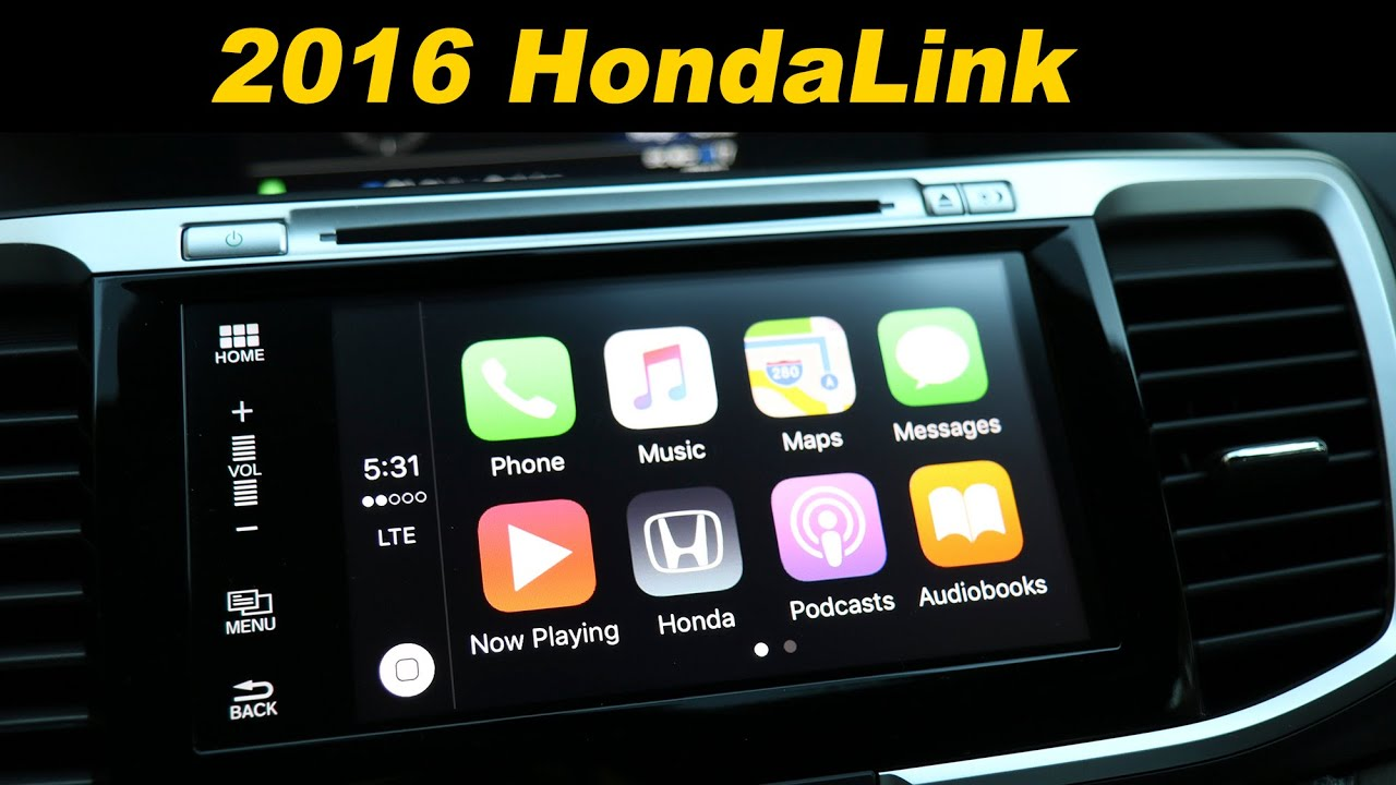 Honda Accord Sport >> 2016 Honda Accord Infotainment Review - With Android Auto and Car Play - YouTube