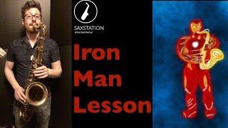 How to play Iron Man (Black Sabbath) First Line on Saxophone