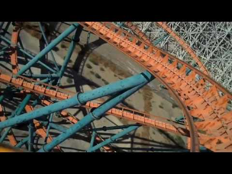 Six Flags Goliath Rollercoaster Point Of View