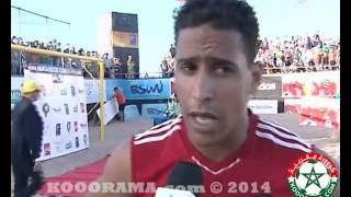 فوز المنتخب المغربي لكرة الشاطئية بالبطولة الدولية بمدينة الجديدة 2014