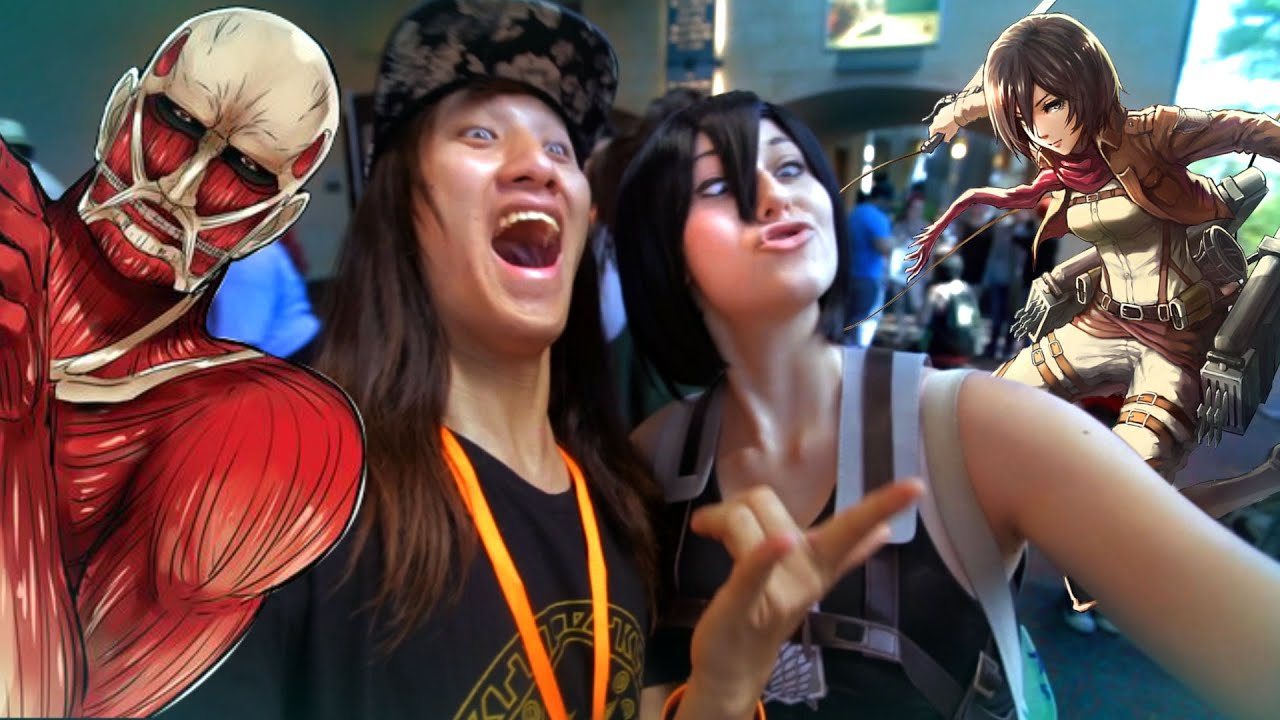 Attack On Titan Mikasa Cosplay SELFIE SELFIELIFE Live Action San Japan 2015 Day 3 T Vlog 21