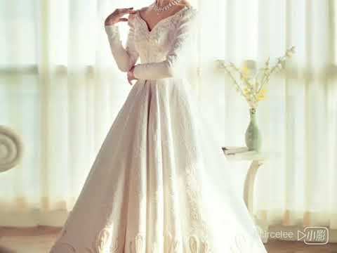 satin-embroidery-vintage-ball-gown-wedding