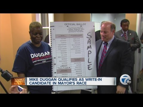 Mike Duggan qualifies as write-in candidate in Mayor