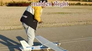 CESSNA CARDINAL 177 MAIDEN FLIGHT AT ASPROPIRGOS RC AIRFIELD