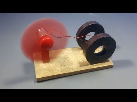 free energy generator device with magnet & dc motor _ scienc