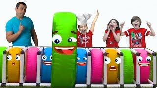 Five Kids Family Pretend Play With Color Wheels | Fun Play Games For Kids Video By Chiki-Piki