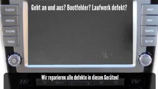 VW Phaeton RNS 810 Bootfehler Geht nicht an Reparatur. CD DVD Laufwerk reparieren.