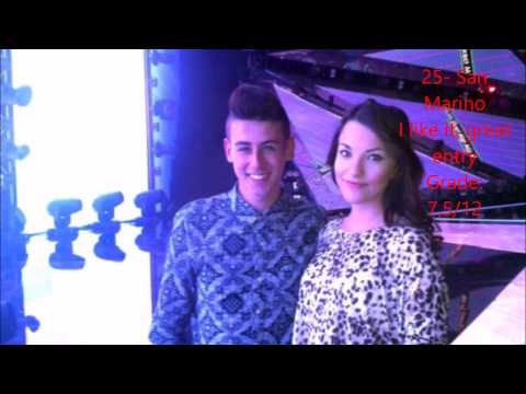 Eurovision 2015- top 40 (from Canada), with comments and grades