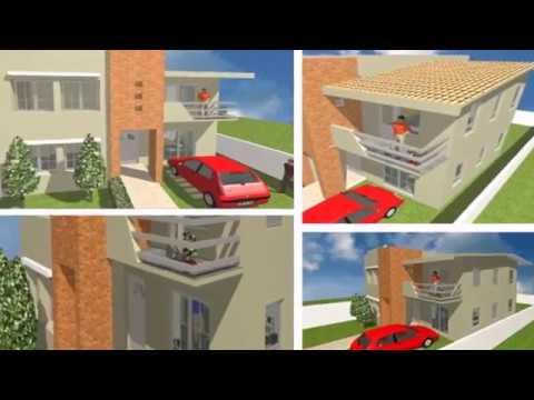 Plano de casa de dos plantasterreno 10 x 20 metros 4 - Planos de casas minimalistas ...