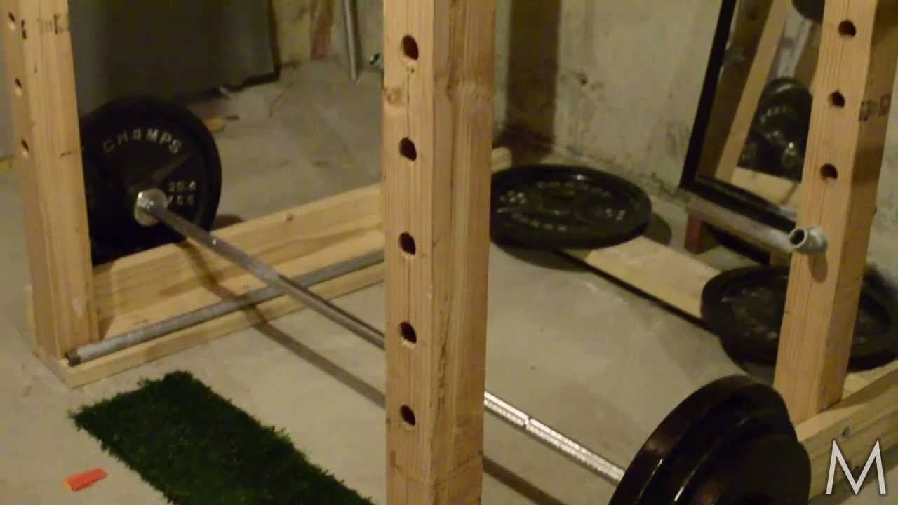 Power rack selber bauen  Wooden Power Rack - YouTube