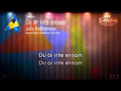 """Julia Kedhammar - """"Du Är Inte Ensam"""" (Sweden) - [Karaoke version]"""