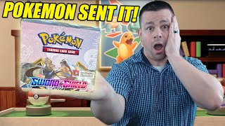 THE POKEMON COMPANY SENT US AN EARLY SWORD AND SHIELD BOOSTER BOX OF POKEMON CARDS!