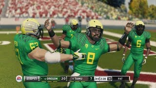 NCAA Football 14 Demo - Oregon vs Texas A&M Live Commentary