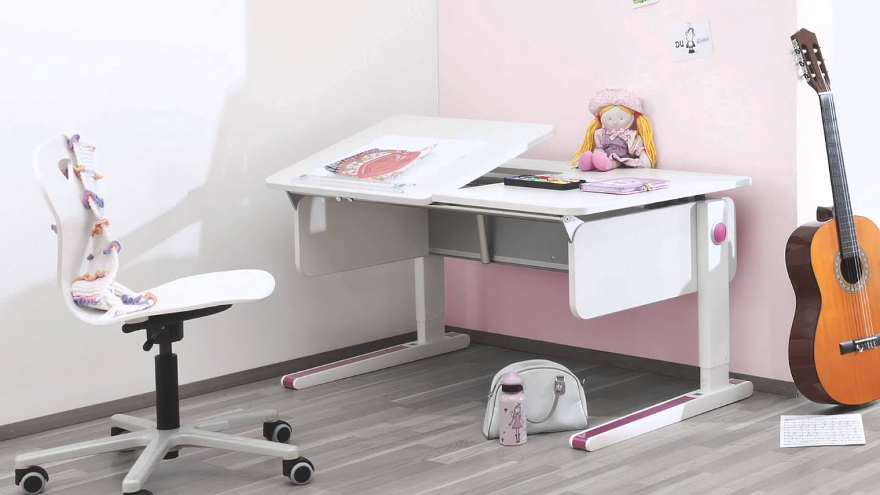 Kinderschreibtisch moll  Bindertek Moll Champion Kids Adjustable Desk.mov - YouTube