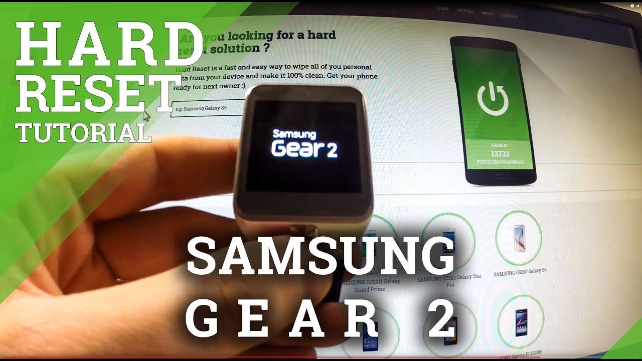 Hard Reset SAMSUNG Gear 2 - factory reset by menu